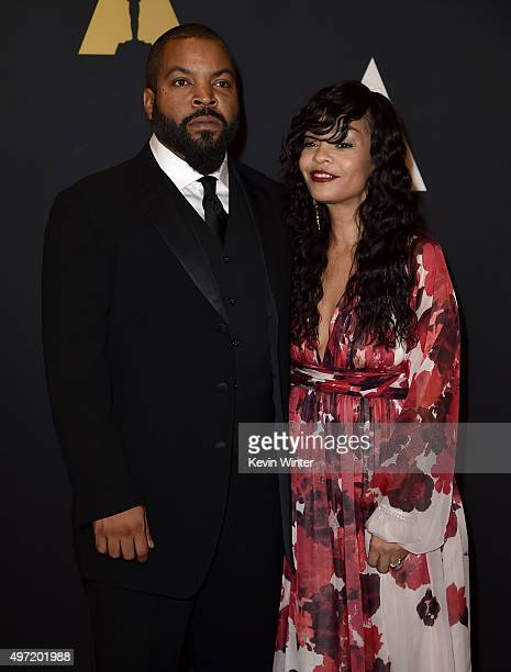 Actor Ice Cube and Kimberly Woodruff attend the Academy of Motion Picture Arts and Sciences' 7th annual Governors Awards at The Ray Dolby Ballroom at...