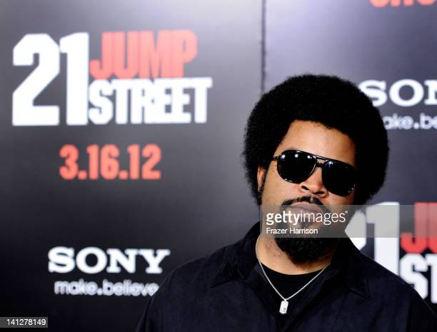 Actor ice Cube arrives at he Premiere Of Columbia Pictures' '21 Jump Street' at Grauman's Chinese Theatre on March 13 2012 in Hollywood California