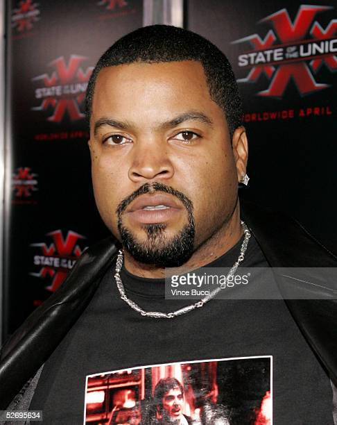 Actor Ice Cube arrives at the premiere of Revolution Studios and Columbia Pictures XXX State of the Union at Mann Village Theater on April 25 2005 in...