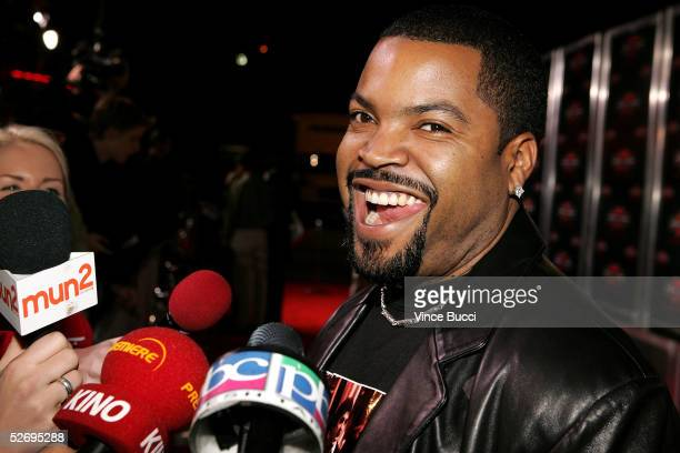 Actor Ice Cube is interviewed as he arrives at the premiere of Revolution Studios and Columbia Pictures XXX State of the Union at Mann Village...