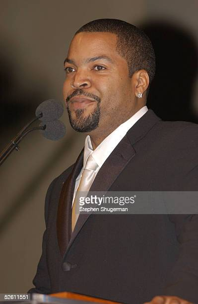 Actor Ice Cube speaks at Chrysalis' Fourth Annual Butterfly Ball at a private residence on April 9 2005 in Bel Air California