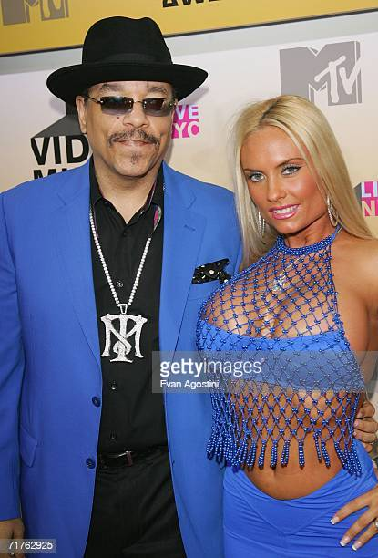 Actor IceT and his wife Coco attends the 2006 MTV Video Music Awards at Radio City Music Hall August 31 2006 in New York City