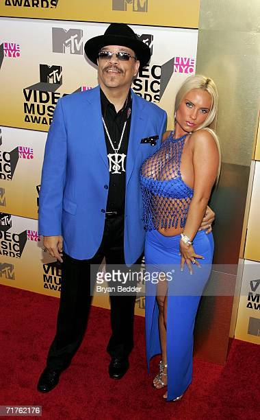 Actor IceT and model Coco attend the 2006 MTV Video Music Awards at Radio City Music Hall August 31 2006 in New York City