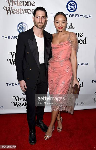 Actor Iddo Goldberg and Ashley Madekwe attend The Art of Elysium 2016 HEAVEN Gala presented by Vivienne Westwood Andreas Kronthaler at 3LABS on...