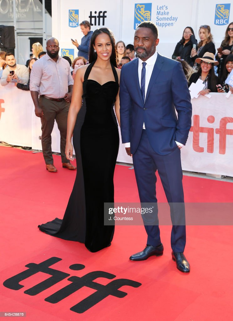 Actor Idris Elba (R) and guest attend the premiere of 'The Mountain Between Us' during the 2017 Toronto International Film Festival at Roy Thomson Hall on September 10, 2017 in Toronto, Canada.