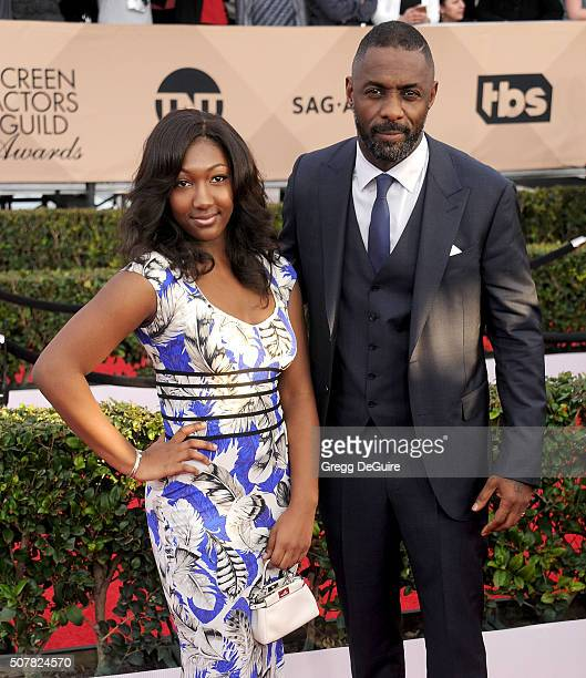 Actor Idris Elba and Isan Elba arrive at the 22nd Annual Screen Actors Guild Awards at The Shrine Auditorium on January 30 2016 in Los Angeles...