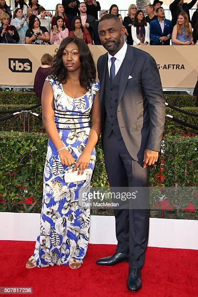 Actor Idris Elba and Isan Elba attend the 22nd Annual Screen Actors Guild Awards at The Shrine Auditorium on January 30 2016 in Los Angeles California