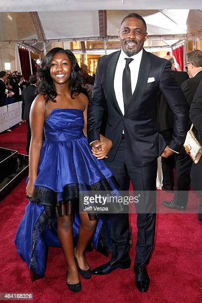 Actor Idris Elba and Isan Elba attend the 87th Annual Academy Awards at Hollywood Highland Center on February 22 2015 in Hollywood California