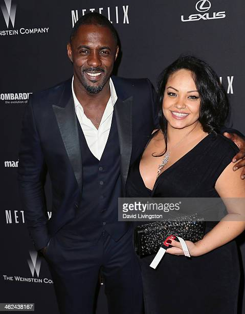 Actor Idris Elba and pregnant girlfriend Naiyana Garth attend The Weinstein Company's 2014 Golden Globe Awards After Party at The Beverly Hilton...