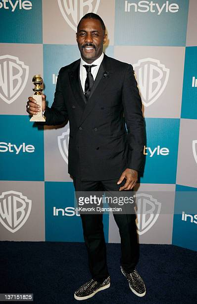 Actor Idris Elba arrives at 13th Annual Warner Bros And InStyle Golden Globe Awards After Party at The Beverly Hilton hotel on January 15 2012 in...