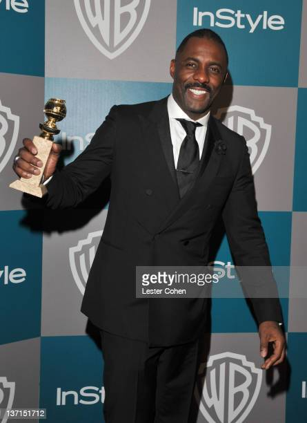 Actor Idris Elba arrives at the 13th Annual Warner Bros and InStyle Golden Globe After Party held at The Beverly Hilton hotel on January 15 2012 in...
