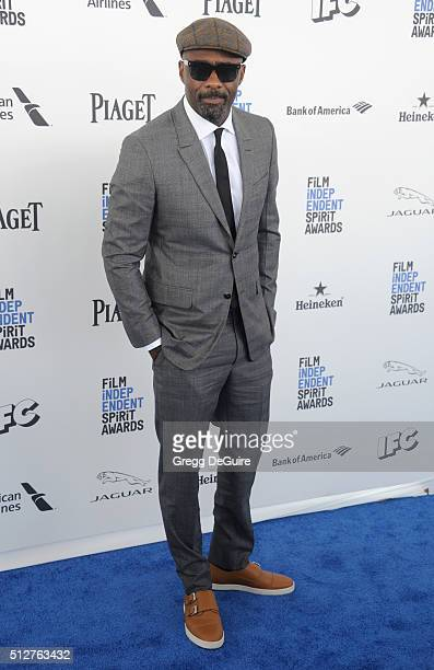 Actor Idris Elba arrives at the 2016 Film Independent Spirit Awards on February 27 2016 in Santa Monica California