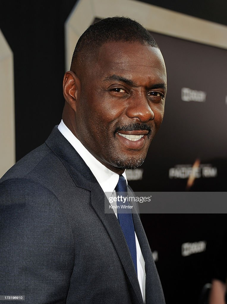 Actor Idris Elba arrives at the premiere of Warner Bros. Pictures' and Legendary Pictures' 'Pacific Rim' at Dolby Theatre on July 9, 2013 in Hollywood, California.