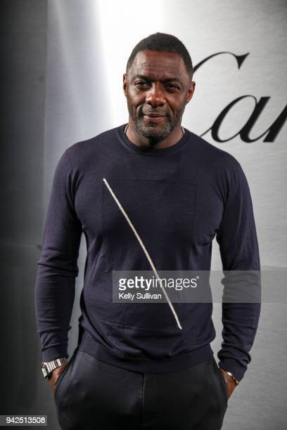Actor Idris Elba arrives on the red carpet for the Santos de Cartier Watch Launch at Pier 48 on April 5 2018 in San Francisco California