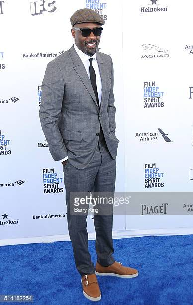 Actor Idris Elba attends the 2016 Film Independent Spirit Awards on February 27 2016 in Santa Monica California