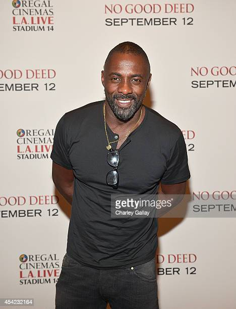 Actor Idris Elba attends The LA Special Screening Of Screen Gems' 'No Good Deed' at Regal Cinemas LA Live on August 26 2014 in Los Angeles California