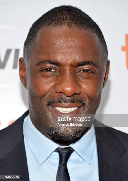 """Actor Idris Elba attends the """"Mandela: Long Walk To Freedom"""" premiere during the 2013 Toronto International Film Festival at Roy Thomson Hall on..."""