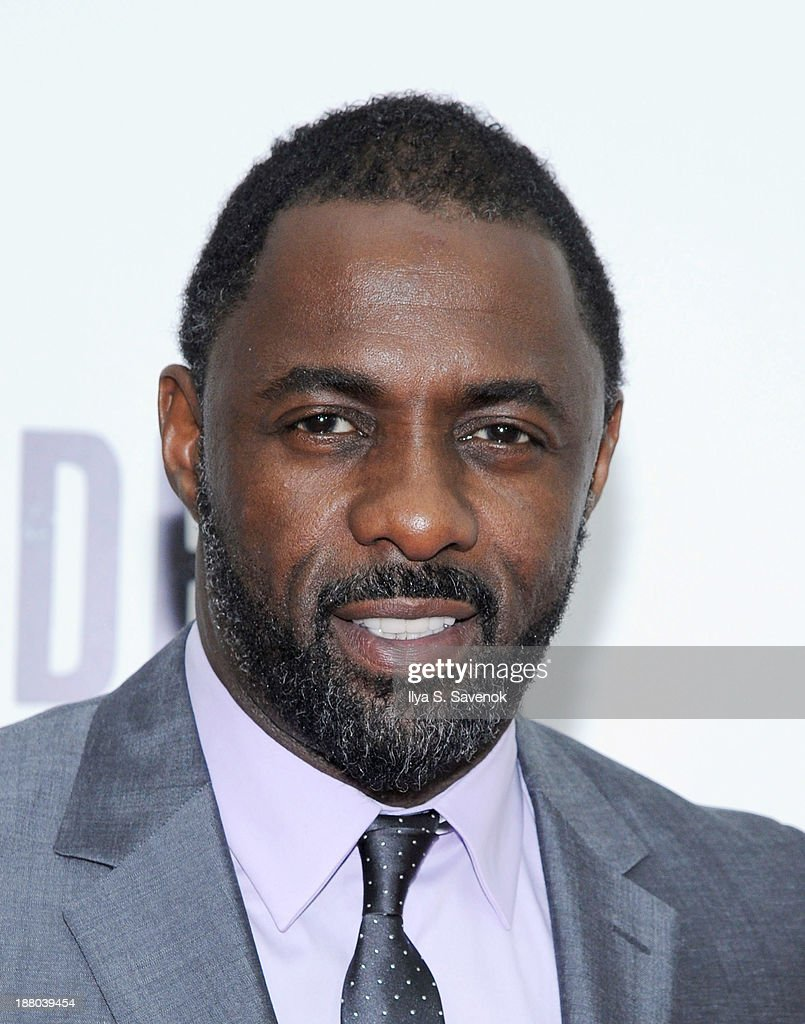 Actor Idris Elba attends the New York premiere of 'Mandela: Long Walk To Freedom' hosted by The Weinstein Company, Yucaipa Films and Videovision Entertainment, supported by Mercedes-Benz, South African Airways and DeLeon Tequila at Alice Tully Hall, Lincoln Center on November 14, 2013 in New York City.