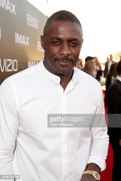 Actor Idris Elba attends the premiere of Paramount Pictures' 'Star Trek Beyond' at Embarcadero Marina Park South on July 20 2016 in San Diego...