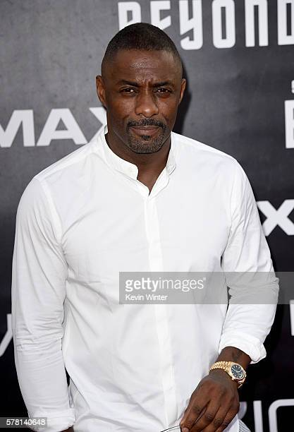 Actor Idris Elba attends the premiere of Paramount Pictures' Star Trek Beyond at Embarcadero Marina Park South on July 20 2016 in San Diego California