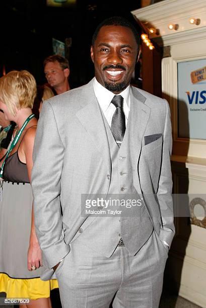 "Actor Idris Elba attends the ""RocknRolla"" premiere screening during the 2008 Toronto International Film Festival held at the The Visa Screening Room..."