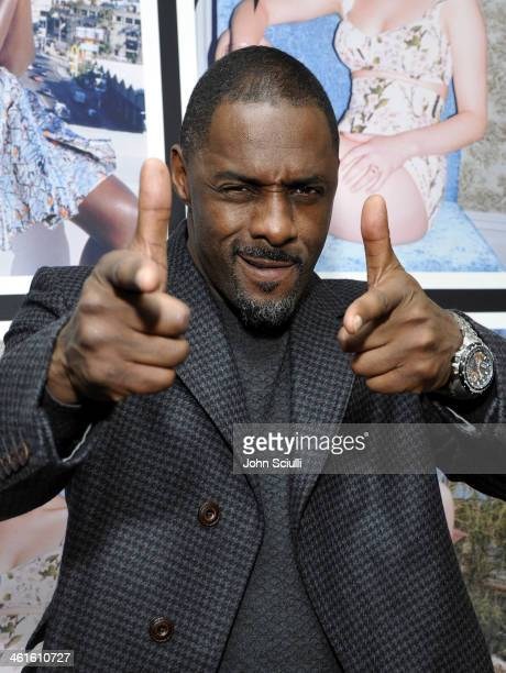 Actor Idris Elba attends the W Magazine celebration of The Best Performances Portfolio and The Golden Globes with Cadillac and Dom Perignon at...