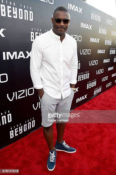 """Actor Idris Elba attends the world premiere of the Paramount Pictures title """"Star Trek Beyond"""" at Embarcadero Marina Park South on July 20 2016 in..."""