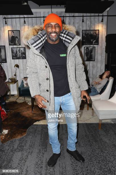 Actor Idris Elba from 'Yardie' attends The Hollywood Reporter 2018 Sundance Studio at Sky Strada Park City on January 20 2018 in Park City Utah
