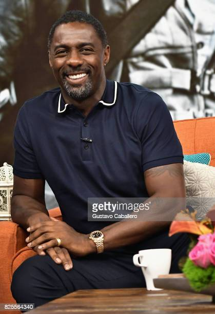 Actor Idris Elba is seen on the set of 'Despierta America' to promote the film 'Dark Tower' at Univision Studios on August 2 2017 in Miami Florida