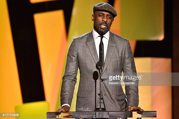 Actor Idris Elba speaks onstage during the 2016 Film Independent Spirit Awards on February 27 2016 in Santa Monica California