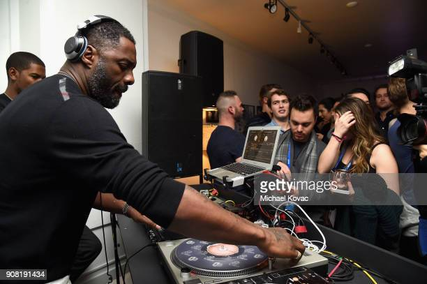 Actor Idris Elba spins at the 'Yardie' After Party at Sundance Film Festival 2018 at The Grey Goose Blue Door on January 20 2018 in Park City Utah