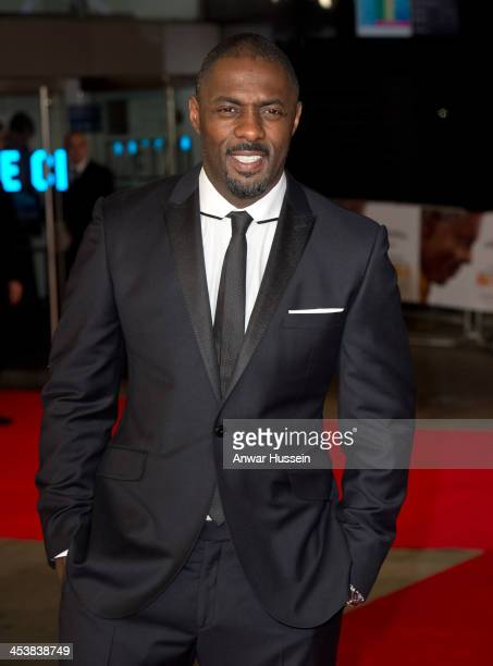 Actor Idris Elba who portrays Nelson Mandela attends the Royal film performance of 'Mandela Long Walk to Freedom' at the Odeon Leicester Square on...