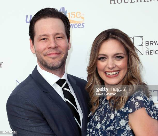 Actor Ike Barinholtz and wife/producer Erica Hanson attend Uplift Family Services at Hollygrove's 7th Annual Norma Jean Gala at Hollygrove Campus on...