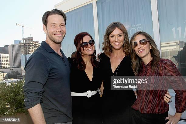 Actor Ike Barinholtz Executive Producer Dannah Phirman actress Erinn Hayes and Executive Producer Danielle Schneider attend the Hulu 2015 Summer TCA...