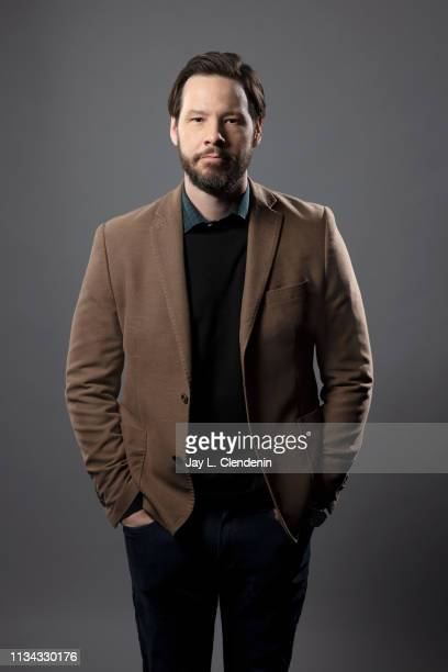 Actor Ike Barinholtz from 'The Twilight Zone' is photographed for Los Angeles Times on March 24 2019 during PaleyFest at the Dolby Theatre in...