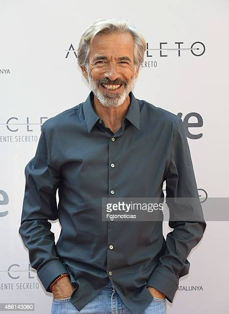 Actor Imanol Arias attends a photocall for 'Anacleto Agente Secreto' at the Gran Melia Fenix Hotel on September 1 2015 in Madrid Spain