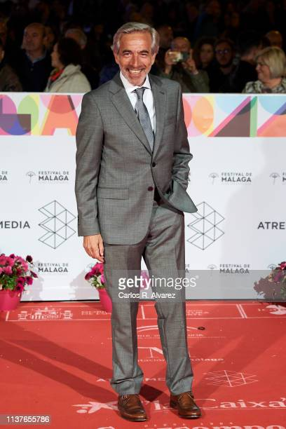Actor Imanol Arias attends the 'Retrospeciva' award ceremony during the 22th Malaga Film Festival on March 22 2019 in Malaga Spain