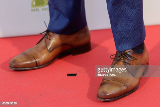 Actor Imanol Arias shoes detail attends the 'Despido procedente' photocall at Callao cinema on June 29 2017 in Madrid Spain