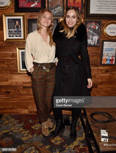Actor Imogen Waterhouse and her sister model Suki Waterhouse attend cocktails hosted by Autograph Collection Hotels to Celebrate Maggie Gyllenhaal as...
