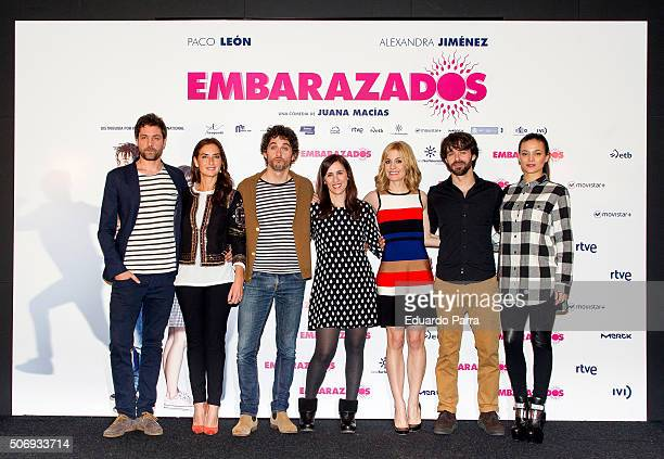 Actor Inaki Font actress Belen Lopez actor Paco Leon director Juana Macias actress Alexandra Jimenez actor Alberto Amarilla and actress Elia Mouliaa...