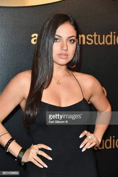 Actor Inanna Sarkis attends Amazon Studios' Golden Globes Celebration at The Beverly Hilton Hotel on January 7 2018 in Beverly Hills California