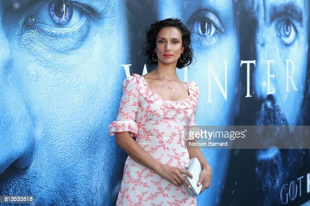 Actor Indira Varma attends the premiere of HBO's Game Of Thrones season 7 at Walt Disney Concert Hall on July 12 2017 in Los Angeles California