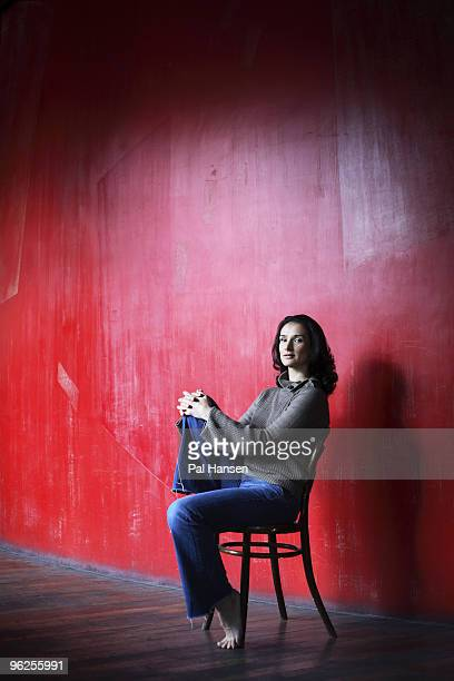 Actor Indira Varma poses for a portrait shoot in London on January 15 2008