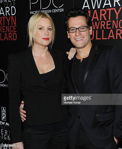 Actor Ioan Gruffudd and wife actress Alice Evans attend the 2010 International Interior Designer Of The Year Awards Ceremony at Pacific Design Center...