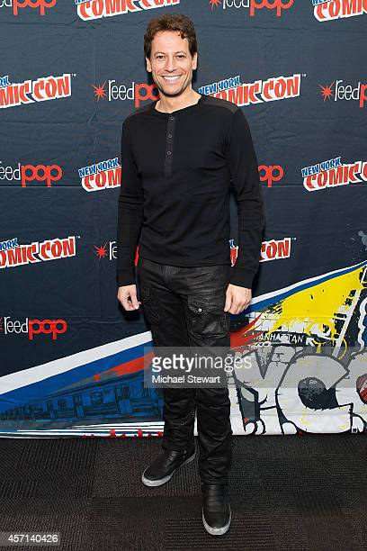 Actor Ioan Gruffudd attends ABC Network's 'Forever' press room at 2014 New York Comic Con Day 4 at Jacob Javitz Center on October 12 2014 in New York...