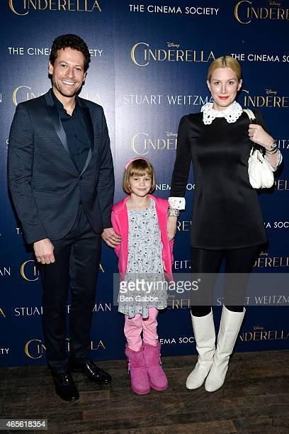 Actor Ioan Gruffudd daughter Ella Gruffudd and actress Alice Evans attend The Cinema Society Stuart Weitzman Host A Special Screening Of Disney's...