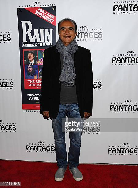 Actor Iqbal Theba arrives at the opening night of 'Rain A Tribute To The Beatles' at the Pantages Theatre on April 12 2011 in Hollywood California
