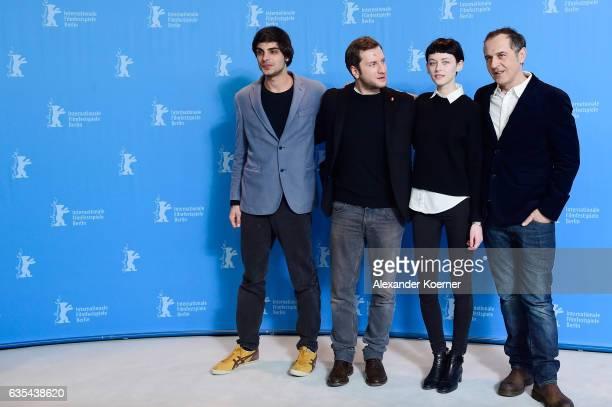 Actor Irakli Quiricadze producer/director and screenwriter Rezo Gigineishvili actors Tinatin Dalakishvili and Merab Ninidze attend the 'Hostages'...