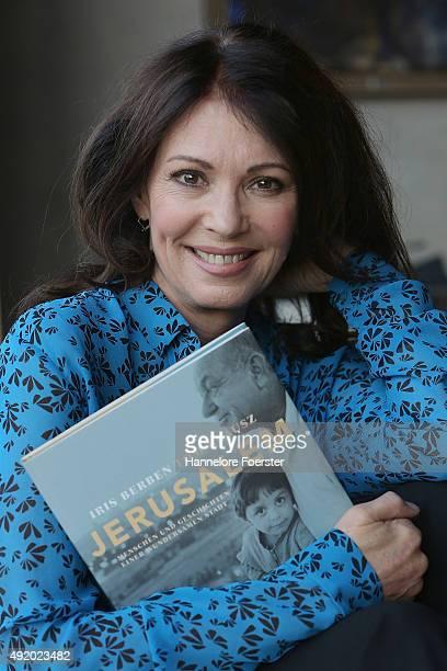 Actor Iris Berben poses for a photo on the occasion of presentation of her Book 'Jerusalem. Menschen und Geschichten einer wundersamen Stadt' on...