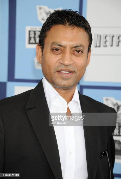 Actor Irrfan Khan arrives at the 2008 Independent Spirit Awards at the Santa Monica Pier on February 23 2008 in Santa Monica California